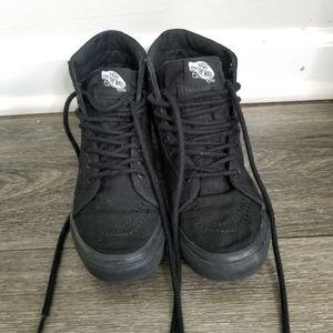 Vans high top black skateboard vans sz 6.5